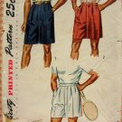 Men's Shorts and Tennis Shorts vintage 50s sewing pattern Simplicity 3269