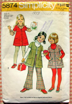 Vintage '72 GIRL D-SringTop,Bloomers,BellBottom PATTERN