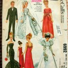"Vintage 60s 11.5""  Fashion Doll Clothes McCalls Sewing Pattern 6992"