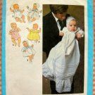 Newborn Baby Wardrobe with Christening Gown Simplicity 8971 Vintage Sewing Pattern