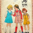 Girl's Culottes and  Jumpers Vintage 70s Pattern Simplicity 8130