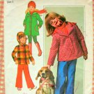 Girl's Jacket and Pants Vintage 70s Pattern Simplicity 7688