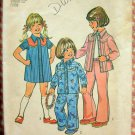 Toddler 70s Western Dress, Yoked Shirt and Pants Pattern Simplicity 6782