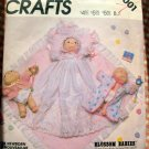 McCall's Sewing Pattern 2001 Blossom Babies Doll and Clothes