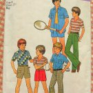Boy's 70s Shirt, Knit Top, Shorts and Pants Pattern Simplicity 7513