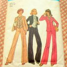 Misses Fall Menswear Vest, Pants, Shirt and Jacket Vintage 70s Pattern Simplicity 7214