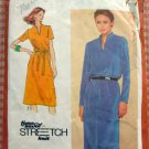 Misses Pullover Dress Vintage 80s Pattern Simplicity 9596