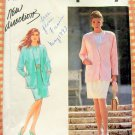 Misses Mock Sarong Skirt, Blouse Jacket Vintage 90s Pattern Simplicity 7443