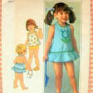 Toddler Halter Dress and Bloomers Vintage Sewing Pattern Simplicity 7553