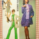 Misses' Overblouse, Mini-Skirt, Pants and Jacket Vintage 70s Pattern Simplicity 8870