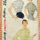 Misses Fitted Blouse Vintage 50s Pattern Simplicity 3358