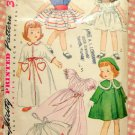"Simplicity 4128 Wardrobe for 14"" Toni Doll Vintage 50s Sewing Pattern"