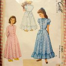 Toddler's Robe or Housecoat McCall 7461 Vintage Sewing Pattern