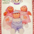 Cabbage Patch Kids Preemie Doll Clothes Uncut Sewing Pattern Butterick 6981
