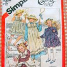 Girl's Dress and Pinafore Simplicity 5730 Vintage 80s Sewing Pattern