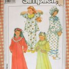 Girl's Nightgown, Robe, PJs and Night Cap Simplicity 8942 Vintage 80s Sewing Pattern