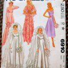Misses 70s Bride and Bridesmaid Gown McCall's 6910 Vintage Sewing Pattern