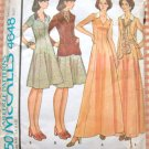 Misses 70s Maxi Dress, Jacket and Scarf McCall's 4648 Vintage Sewing Pattern