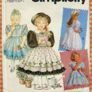 Daisy Kingdom Dress and Pinny Simplicity 7699 Sewing Pattern