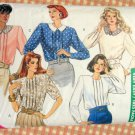 Vintage 80s Shoulder Pad Blouse Butterick 6609 Sewing Pattern