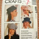 Vintage Sewing Pattern 90s Hats and Tie McCall's 6077