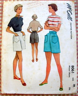 Vintage high waisted shorts pattern