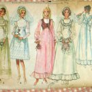 Wedding Dress and Bridesmaid Dresses Vintage Pattern Simplicity 9608