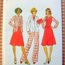 Misses Vest, Pants, Skirt and Jacket Vintage 70s Pattern Simplicity 7376