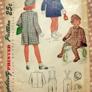 Toddler's Vintage 40s Coat, Hat and Leggings Simplicity 2203 Sewing Pattern
