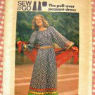 Vintage 70s Maxi Peasant Dress Butterick 4014 Sewing Pattern