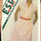 Misses Shirtwaist Dress Vintage 80s Pattern Simplicity 9428