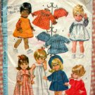 "17.5"" to 18.5"" Baby Doll Clothing Vintage Sewing Pattern McCall's 9449"