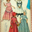 Revolutionary War or Pilgrim Costume Vintage 70s Sewing Pattern Simplicity 9136 Girls size 6