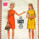 Misses 60s Empire Waist  Dress Vintage Sewing Pattern Butterick 5312
