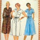 Junior Petite Shirtwaist Dress Vintage Sewing Pattern Butterick 5925