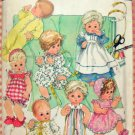 "13"" to 18"" Baby Doll Clothing Vintage Sewing Pattern Simplicity 365"