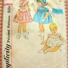 Toddler 50s Smocked Dress, Panties and Bonnet Vintage Pattern Simplicity 4375