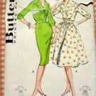 Vintage Sewing Pattern 50s Rockabilly Dresses Butterick 8998