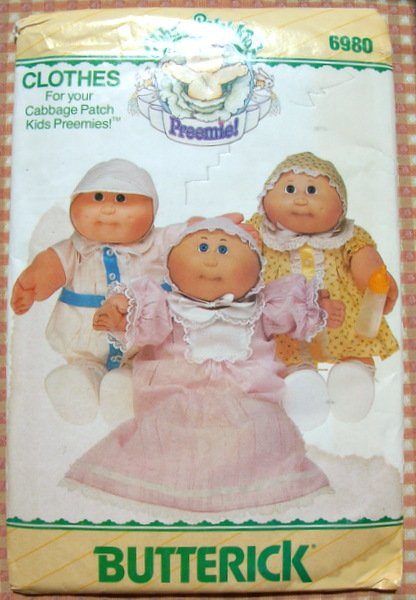 Cabbage Patch Kids Preemie Doll Clothes Uncut Sewing ...