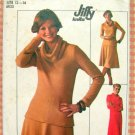Misses' Knit Pullover Dress or Top and Skirt Vintage 70s Pattern Simplicity 7750