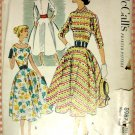 Bouffant Dress Vintage 50s Sewing Pattern McCall&#39;s 8987