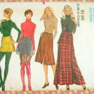 70s Maxi Skirt, Mini Skirt and Midi Skirt Vintage Sewing Pattern Vogue 8125