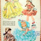 "McCall's Vintage 50s Sewing Pattern 2084 11"" Chubby Doll's Wardrobe"