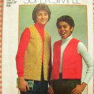 Boy&#39;s Hippie Vest Vintage 70s Sewing Pattern Simplicity 6592