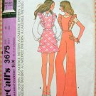 McCall's 3675 Misses Bib Overalls or Jumper Vintage 70s Sewing Pattern
