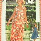 Misses&#39; MuuMuu Maxi Dress Vintage 70s Pattern Simplicity 7520