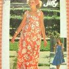 Misses' MuuMuu Maxi Dress Vintage 70s Pattern Simplicity 7520