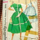 Misses 50s Dress Vintage Pattern Simplicity 1989
