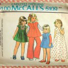 Girl&#39;s Maxi Dress and Pants Vintage 70s Sewing Pattern McCalls 5109