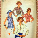 Misses Blouse and Scarf  Vintage 70s Pattern Simplicity 7353